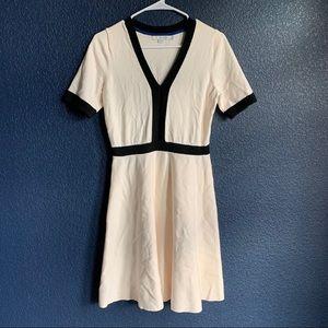Boden sz 8 cream/black sweater dress